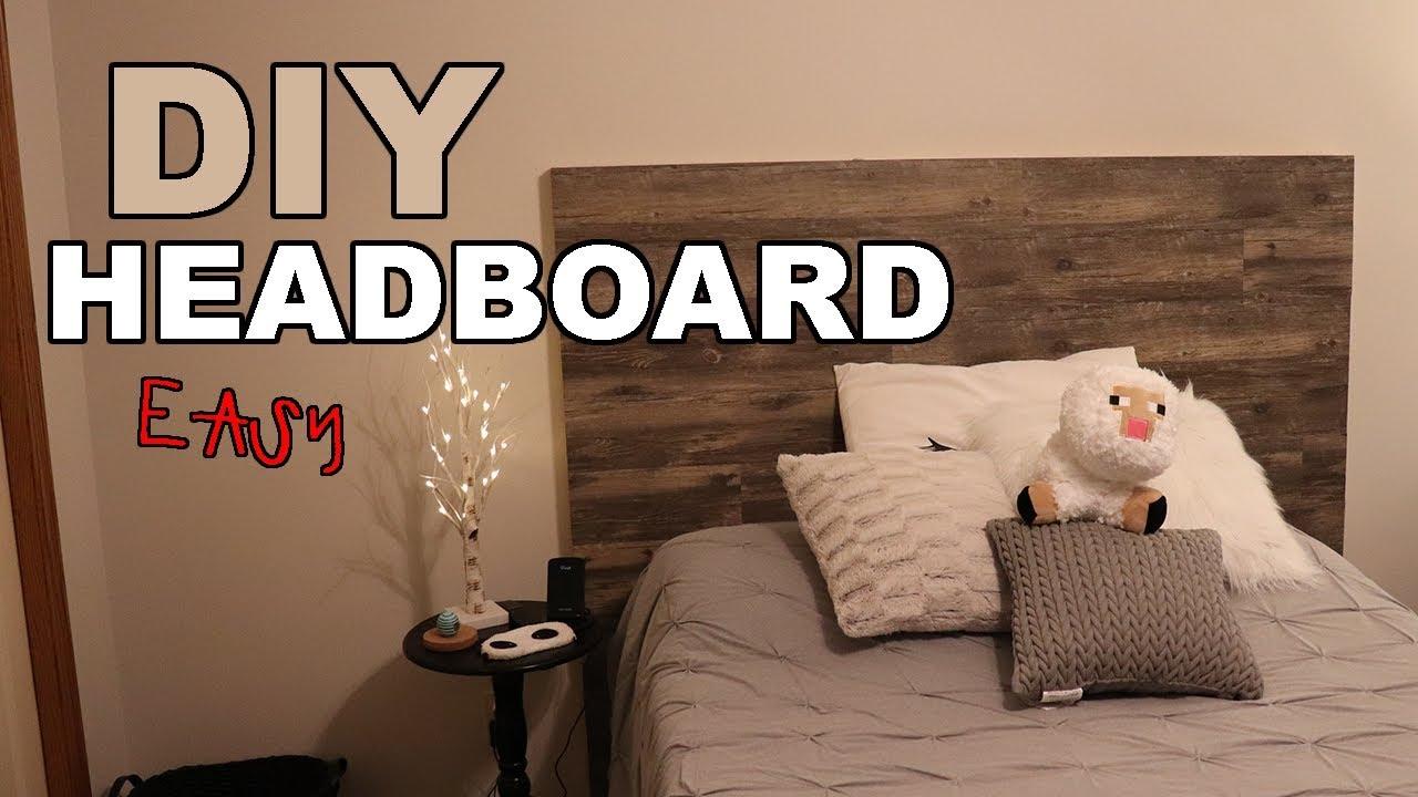 How To Diy Rustic Headboard W Vinyl Flooring Youtube