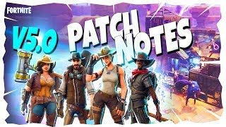 V5.0 PATCH NOTES! Fortnite Save The World
