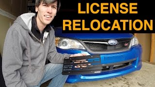 Subaru WRX STI - Front License Plate Relocation Kit(, 2014-12-19T15:00:20.000Z)