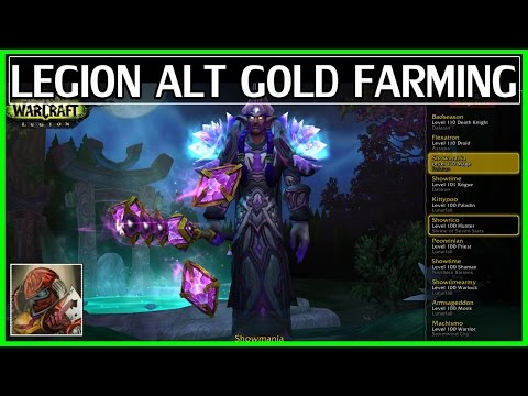 WoW Farming Gold With Alts in Legion