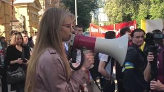 Акция против блокировки Вконтакте в Киеве
