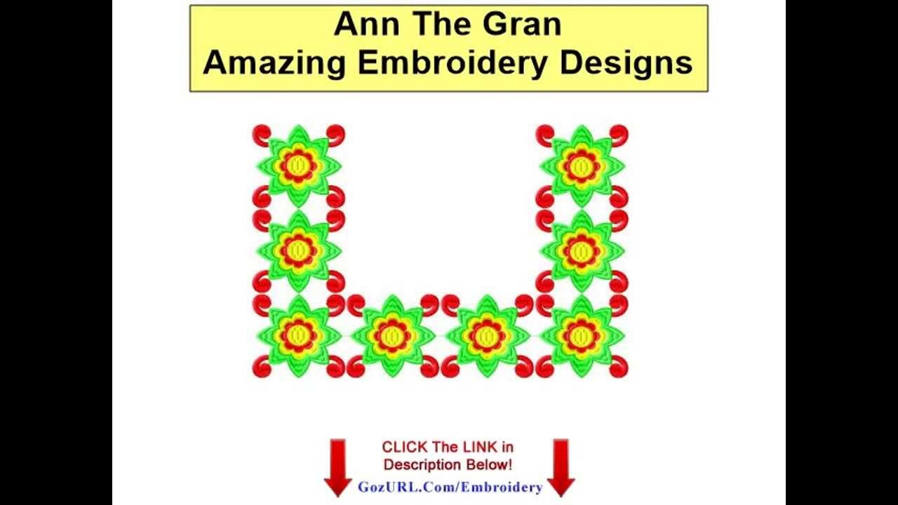 Ann The Gran - Amazing Embroidery Designs - YouTube