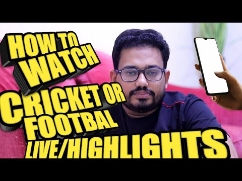 How To Watch Football And Cricket On Mobile | #cricket #football #online