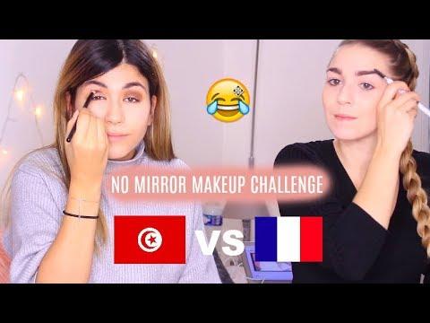 Une Française qui parle Tunisien 🙈? No Mirror Makeup Challenge | LaMarwa