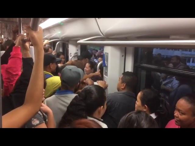 Retrasos en el Metro por falla técnica en la estación Caribe [Noticias] - Telemedellín #1