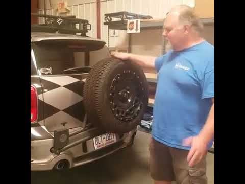 R60 Countryman Swing Away Spare Tire Carrier