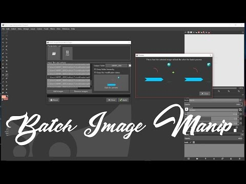 How to batch image manipulation in Gimp