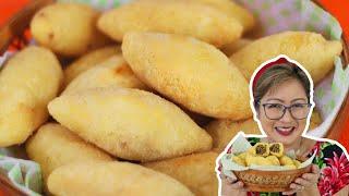 Bolinhos frito de Mandioca com Carne
