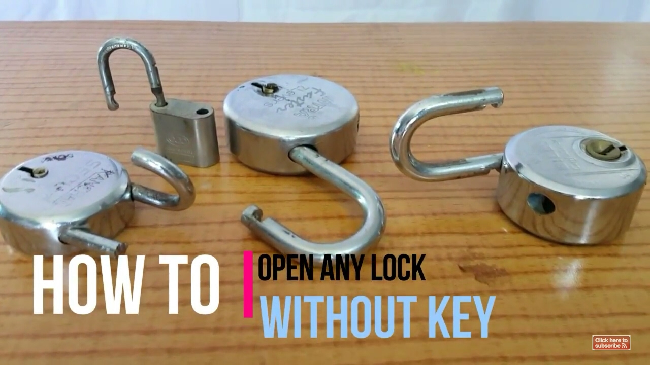 How To Open A Lock Without Key