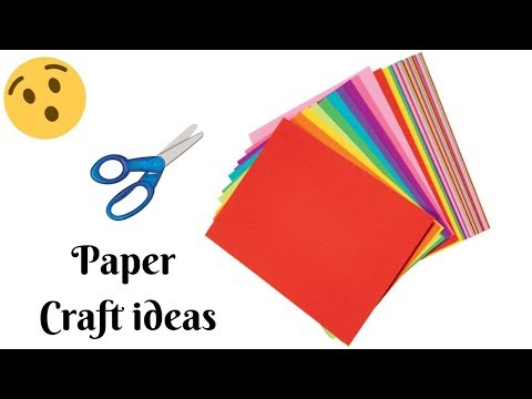 DIY| Paper Wall decoration ideas |Room decoration ideas with papers | Paper Crafts | CrazeeCrafts