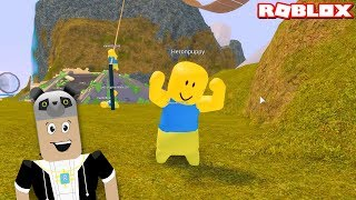 We've gone to the world of rubber men! - Roblox Floppy Fighters with Panda