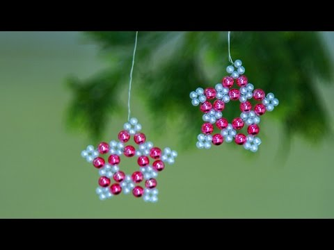 How to make Christmas ornaments 2019   Holiday room decor   Christmas decorations ideas   Beads art