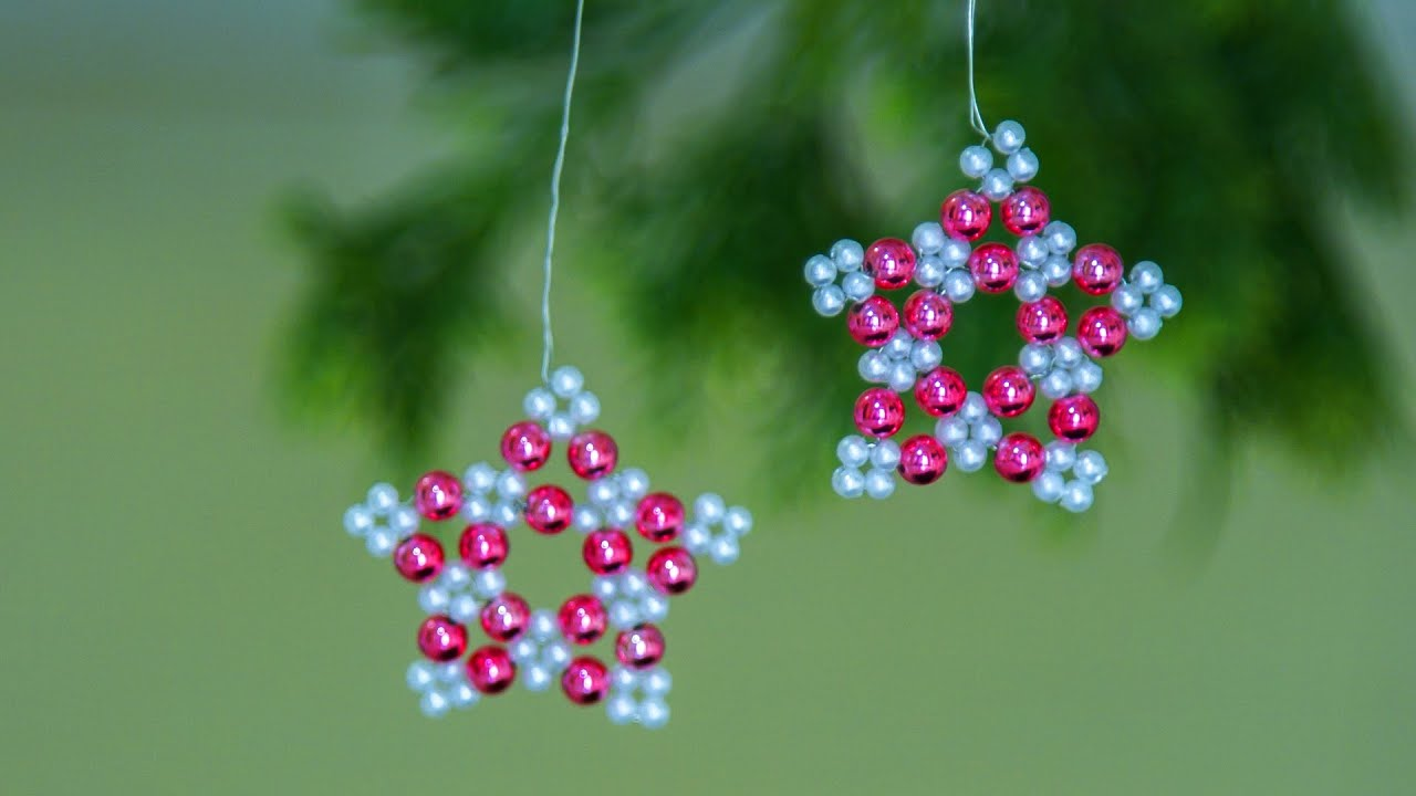 how to make christmas ornaments diy holiday room decor christmas decorations ideas beads art youtube - Christmas Decoration Ideas To Make