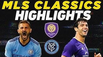 NYCFC vs Orlando City | David Villa & Kaka in First MLS Match | MLS Classic Highlights