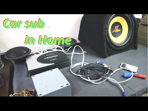 how to connect car amplifier or subwoofer in home #diy16
