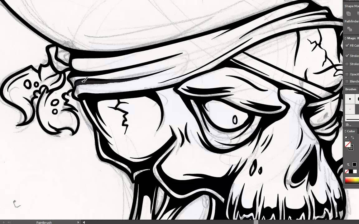 Adobe Illustrator Tutorial: How to Draw a Vector Pirate Skull ...