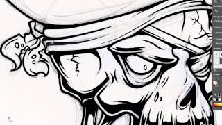 Adobe Illustrator Tutorial: How to Draw a Vector Pirate Skull