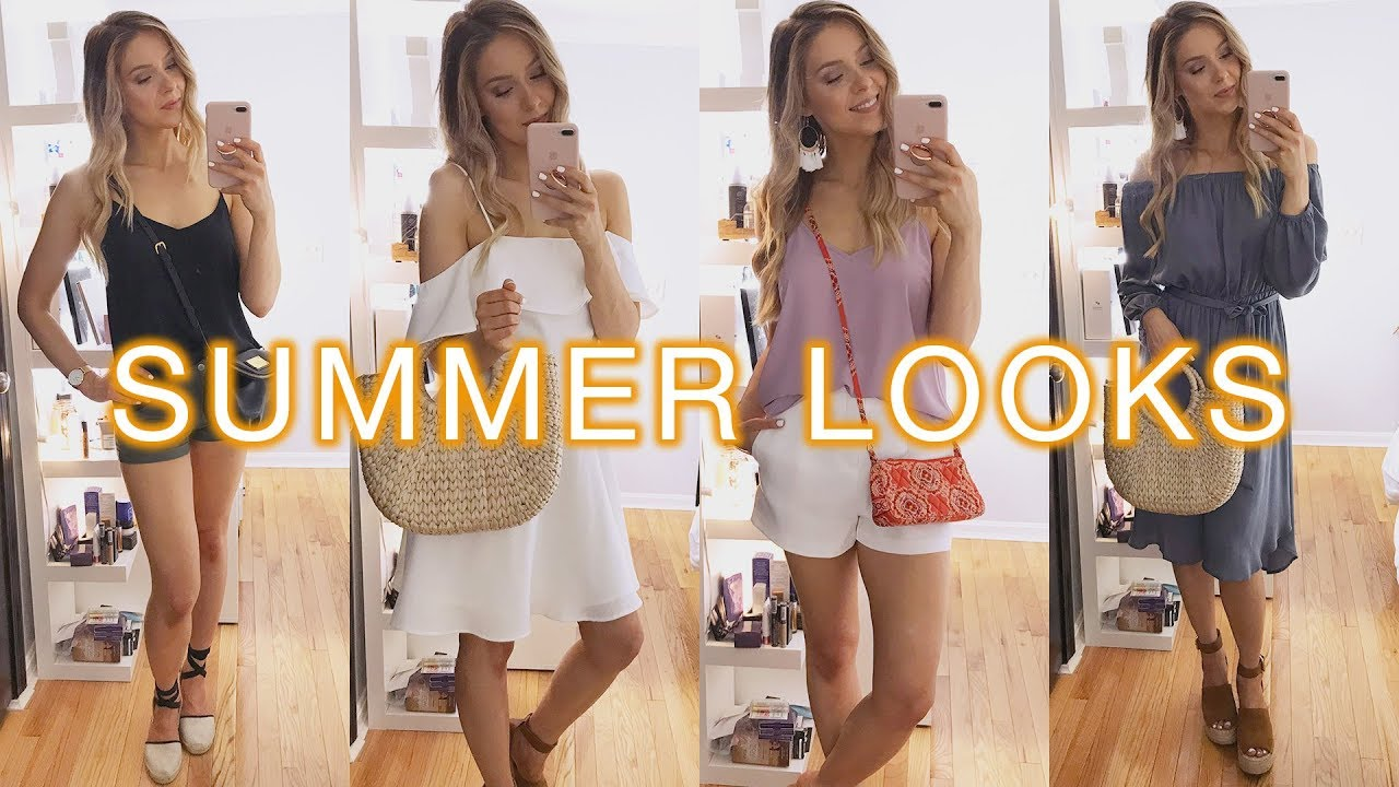 06dc074e5db 5 CUTE SUMMER OUTFITS (2018) - YouTube