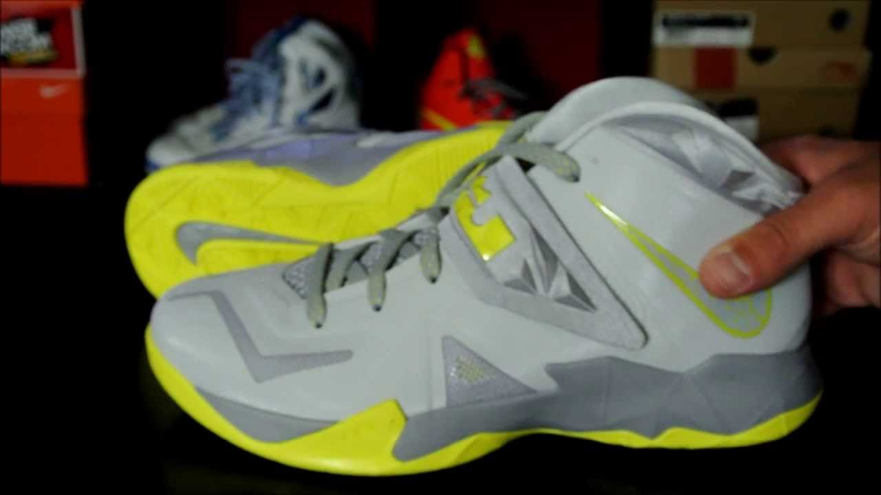 acfcb7ed352c1 Nike Zoom Soldier VII (7) Pure Platinum  Sonic Yellow - YouTube