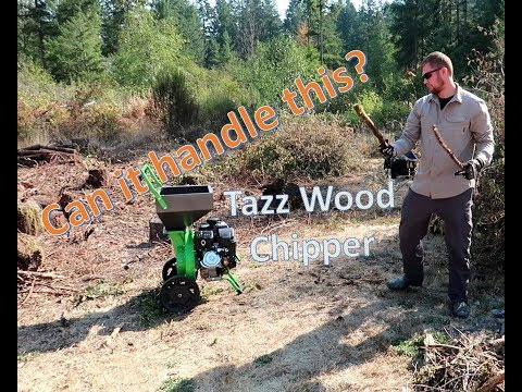 How to assemble, start, and use a 301CC Tazz chipper shredder