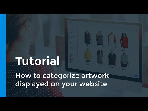 How To Categorize Artwork Displayed On Your Website - Tutorial