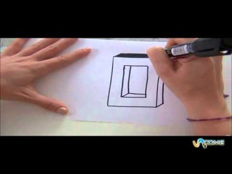 Come disegnare la lettera O in 3D