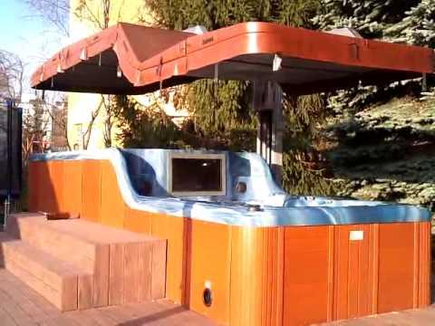 Rohena Swim Spa Hydraulic Roof System Youtube