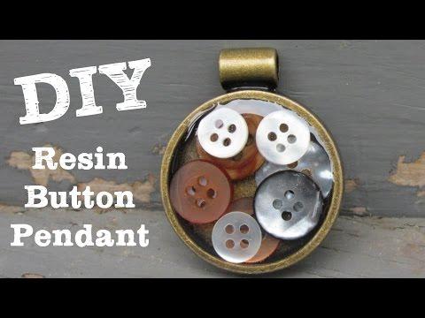 Resin Button Pendant DIY Craft Klatch Jewelry Series