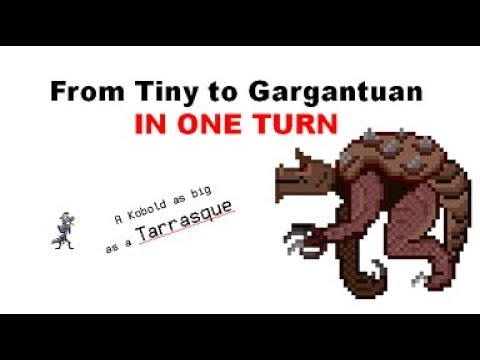 Dnd Size Tiny To Size Gargantuan In One Turn Kobold Godzilla Youtube