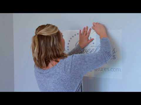 How To Apply Wall Decals - Sweetums Signatures