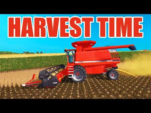 FARMING SIMULATOR 2017 | OPENING UP SOYBEAN FIELDS WITH THE CASE COMBINE | NO CREEK EP #8