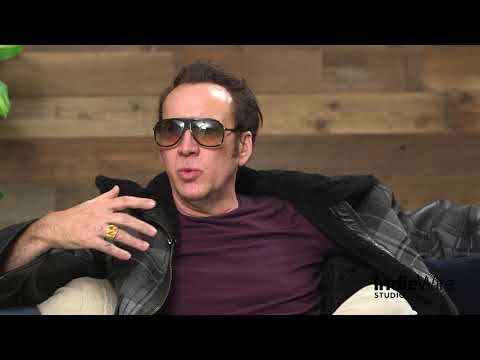 Nicolas Cage discusses his film Mandy at IndieWires Sundance Studio