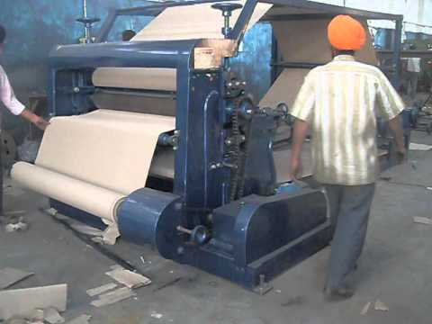 Paper Corrugation Machine Avi Youtube