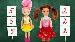 ПОМЕНЯЛИСЬ ТЕЛАМИ НА ОДИН ДЕНЬ Мультик #Барби Куклы Про Школу Игрушки Для детей #IkuklaTV