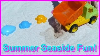 Summer BEACH Holiday#1: Kids Educational Sand Castle Big Trucks Construction (летом пляжный отдых)