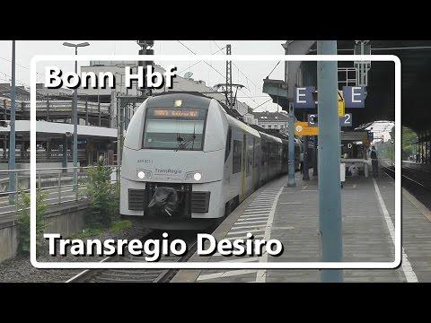 Transregio Siemens Desiro halteert op station Bonn Hbf!