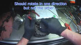 Audi B6: 1.8T Alternator clutch pulley replacement