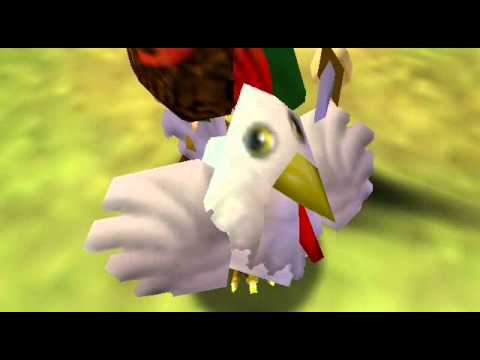 zelda link embrouille des poules