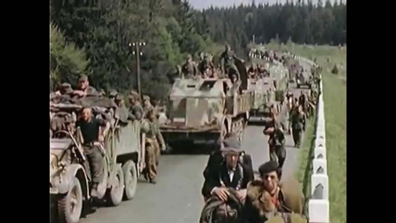 Rare Color Footage of German Troops after Surrendering - Apr 1945 -WW2