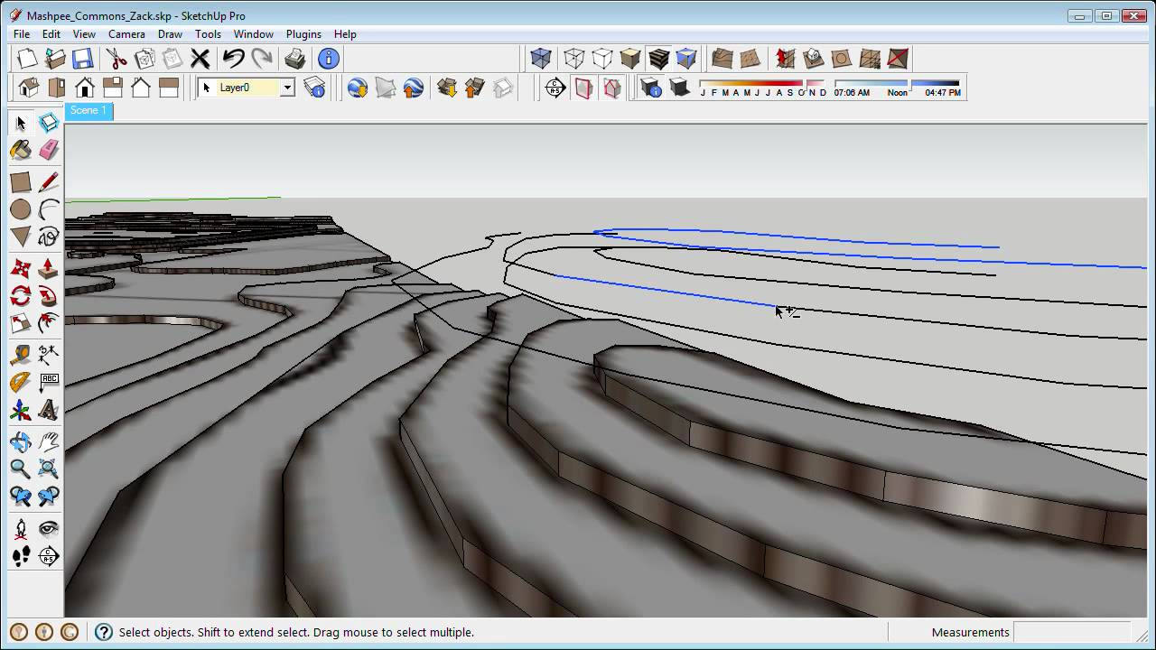 Landscape and sketchup working with contours part 1 youtube for Garden design in 3d using sketchup