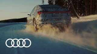 Test drive with the 2019 Audi e-tron Sportback prototype   Cold testing in Finland