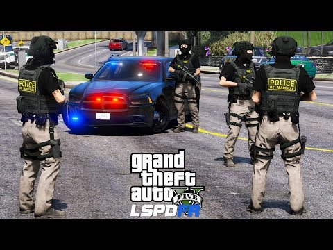 GTA 5 LSPDFR #539 | U.S. Marshals Task Force Take Down |  Live Stream
