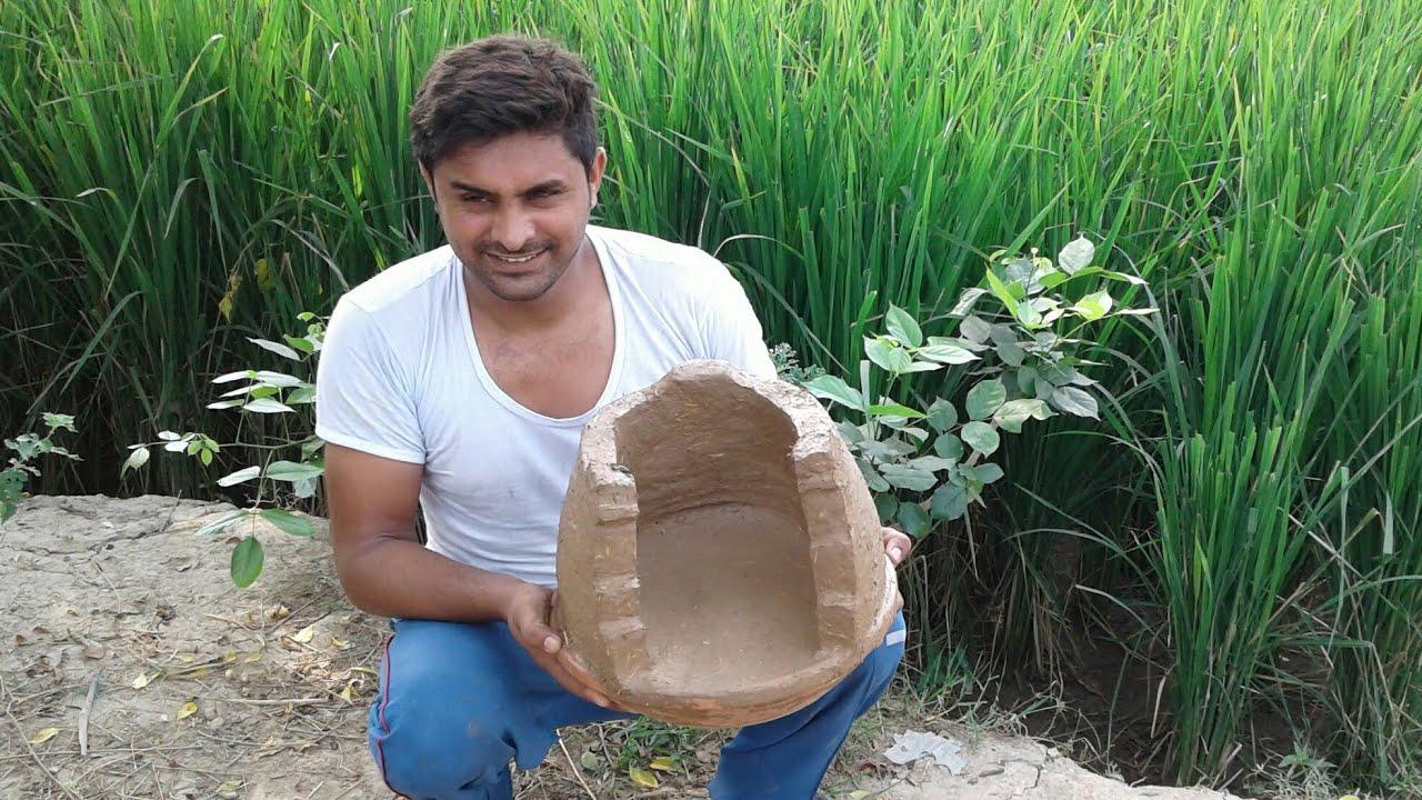 How to make Movable clay stove 💚Mitti ka desi Chulha💖Primitive Technology  ❤MY Village Food Secrets