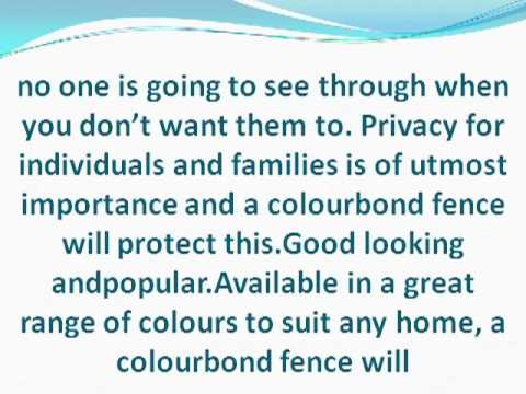 Colourbond Fencing the Ultimate in Fencing