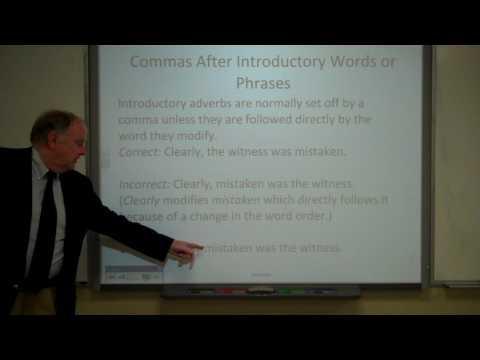 Punctuation: Commas, Part 1
