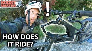 The CRAZIEST Bike I've Ever Ridden! - Trying a Linkage Fork! Whistler Bike Park | Jordan Boostmaster