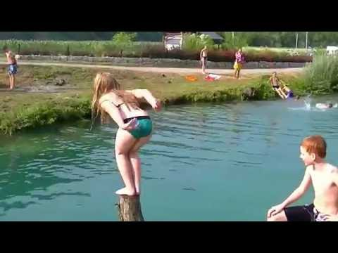 Swimming in Korana River - Croatia