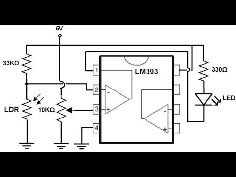 LM393 طريقة تشغيل اضواء تلقائيه في ليل بي استخدام
