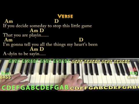 Spooky (Dusty Springfield) Piano Lesson Chord Chart in Am  with On-Screen Lyrics