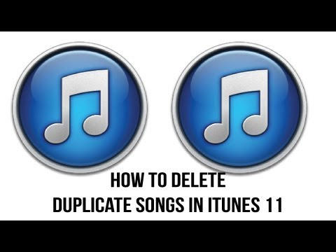 iTunes 11 Tutorial - How To Delete Duplicate Songs